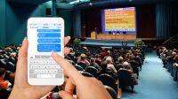 Unterstützung für den Betriebsrat – Aktives Mitarbeiter-Feedback mit der SMS-Chatwall live auf einem Beamer