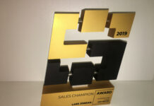 Lars Jordan - Sales Champion Award