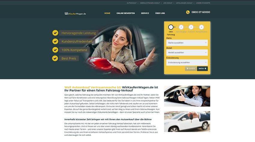 """""""Wir kaufen Wagen"""" garantiert eine faire Bewertung Ihres Gebrauchten"""