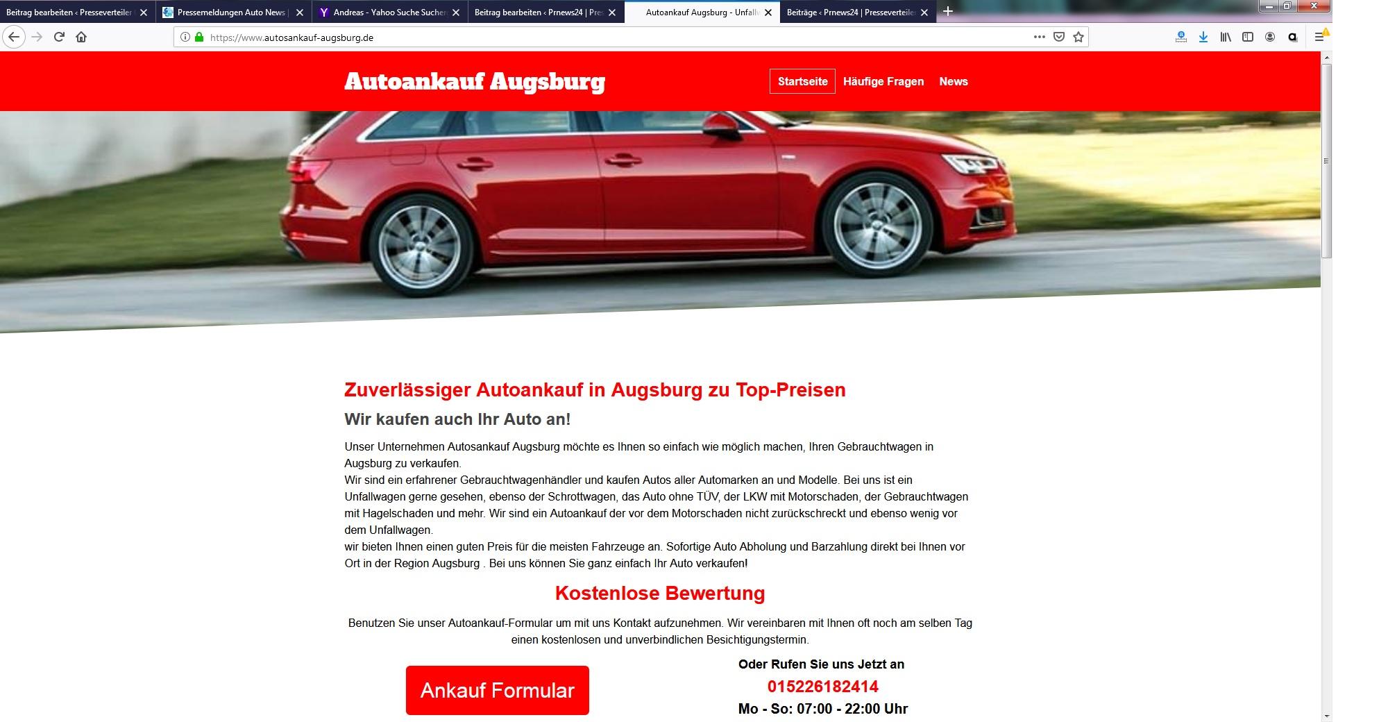Autosankauf in Augsburg
