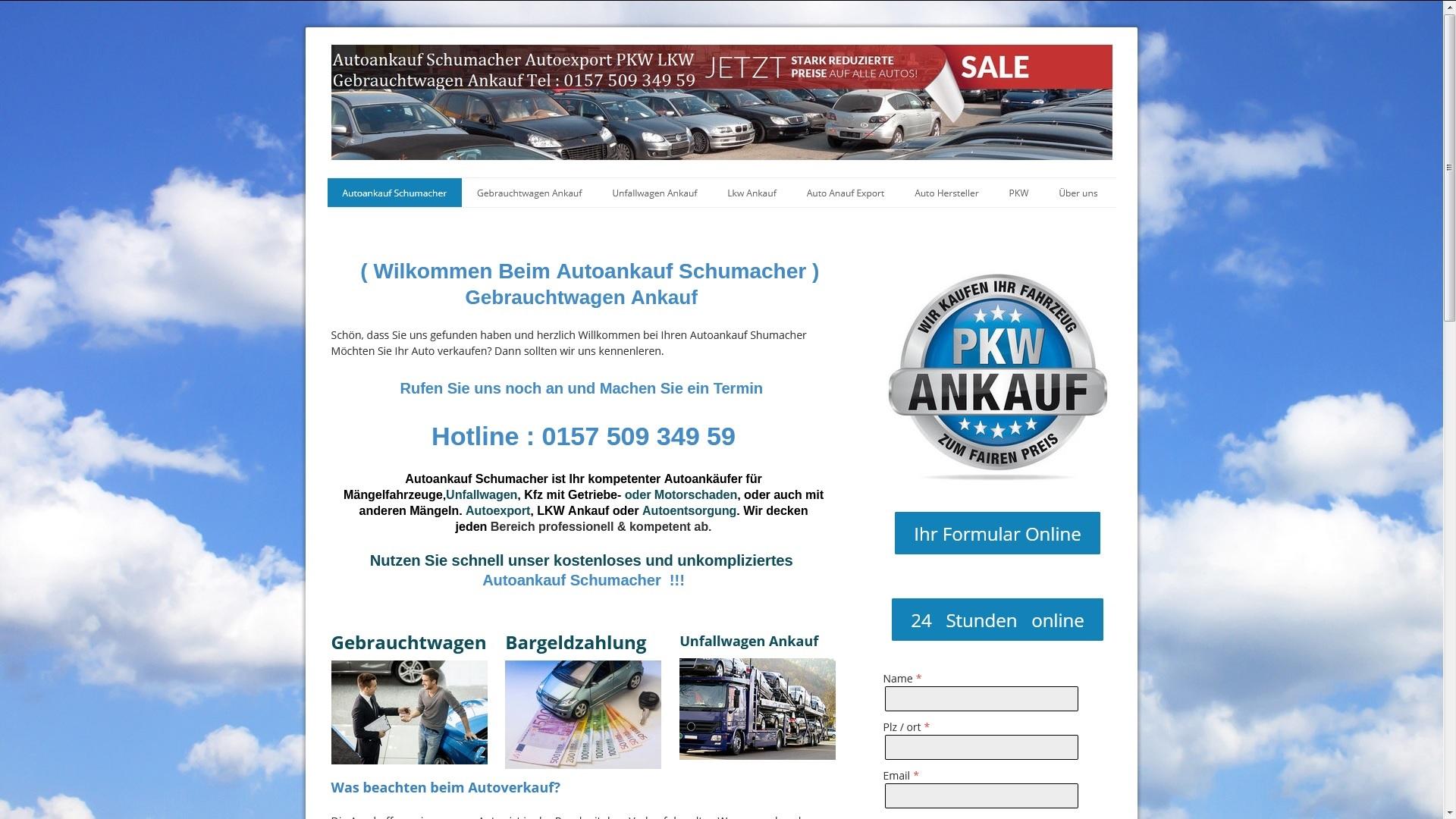 https://www.autoankauf-schumacher.de - Autoankauf Oranienburg
