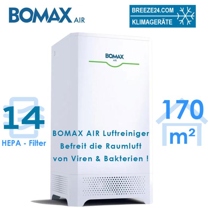 BOMAX maxi Luftreiniger mit HEPA 14 Luftfilter für 170 m² Fläche