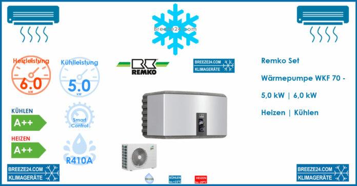 Remko Set Wärmepumpe WKF 70 - 6,0 | 5,0 kW Heizen | Kühlen | WKF 70