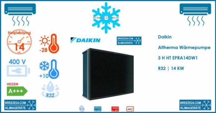 Daikin Altherma Wärmepumpe 3 H HT EPRA14DW1 | R32 | 14 KW