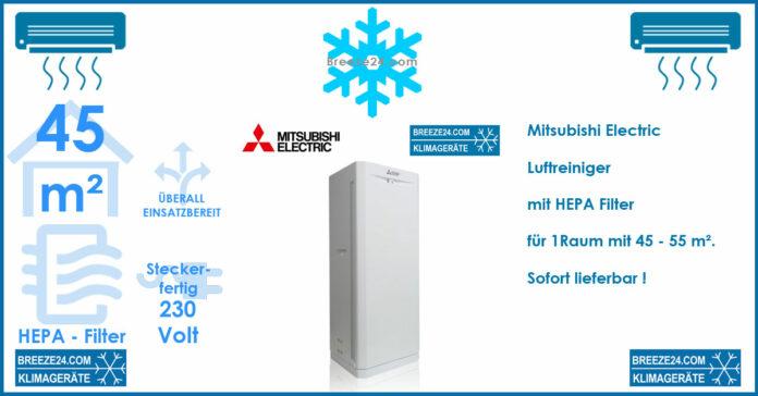 Mitsubishi Electric MA-E100R-E Luftreiniger mit HEPA-Filter für 1 Raum mit 45 - 55 m²