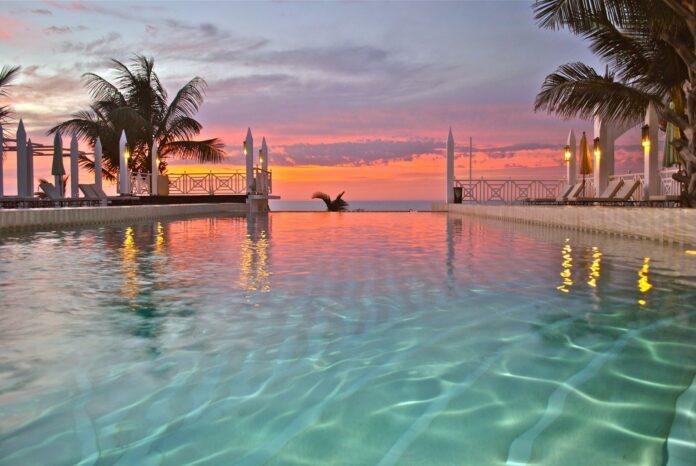 Beach Club Villa Royal Suite Beach House private pool sunset