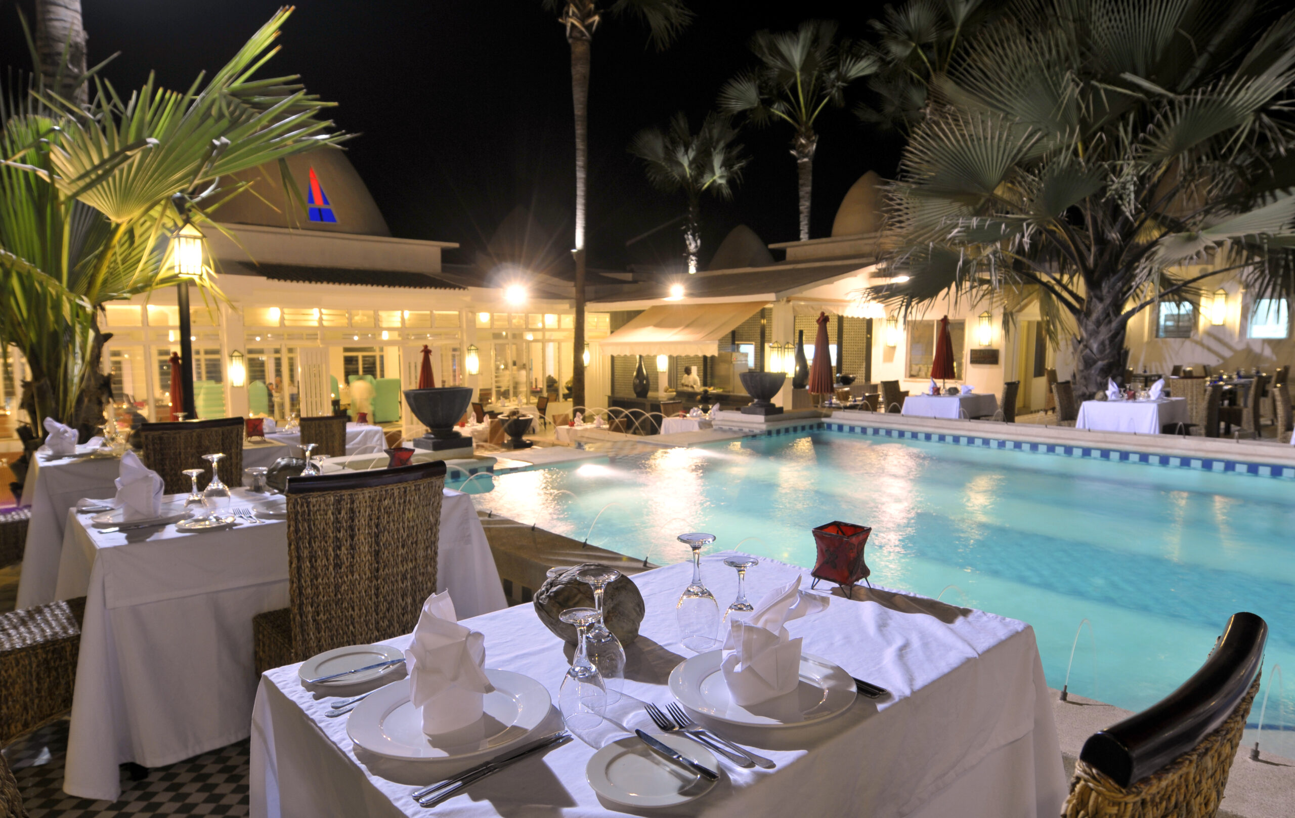 Courtyard Dining scaled - THE GAMBIA 2021/22: WHY IS WEST AFRICA'S BEST RESORT AND SPA A PERFECT SPOT FOR A WINTER ESCAPE?
